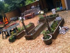 Preschool teacher Tom's outdoor gardening area for the kids.