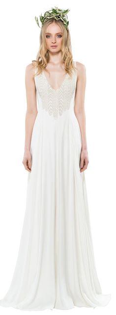 Mara Hoffman Bridal: Diana Beaded Gown