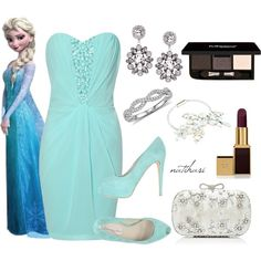 """""""Elsa Disney Princess Winter Prom Outfit"""" by natihasi on Polyvore"""