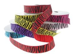 New Weekly Deals! Get 10 Yards of this Zebra Print Grosgrain Ribbon for only $3.75! (25% off). Available in multiple colors. Offer expires 6/5/15 at Midnight PST.