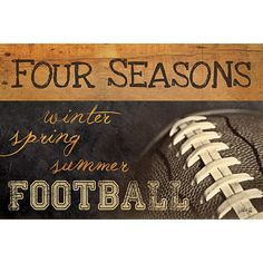 MA771 - Four Seasons Football II / Textured, finished wall decor ready to hang by Marla Rae