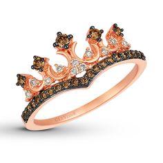 Kay - Le Vian Chocolate Diamond Crown Ring 1/3 ct tw 14K Gold