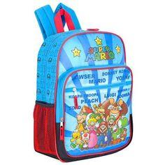 "Nintendo Super Mario Bros. ""Super Mario Characters"" Puffy Fun Times 16"" Children's School Backpack Nintendo. $16.99. Save 43% Off!"