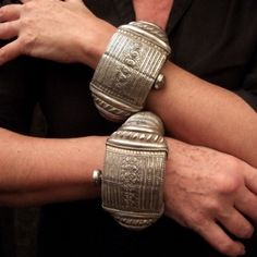 The same bracelets from Oman worn as a pair....