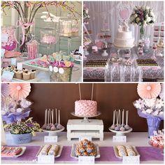 mesa de dulces para primera comunion de niña