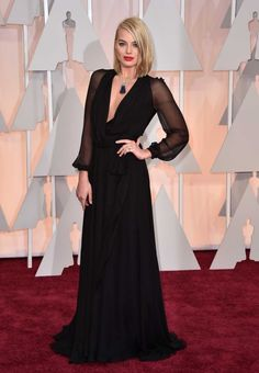 Margot Robbie in Saint Laurent at the 87th Academy Awards: Oscars 2015 red carpet