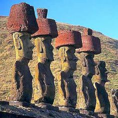 """A HYPOTHESIS FOR THE """"MOAIS"""": MERE COINS?   Easter Island in the Pacific Ocean / with their strange and much disturbing totems: / are the """"moai"""", those shapes in stone carved / with the mystery of what could be their origin / and the Island Yap in the Ocean Pacific / distant from the other about three thousand miles; / where its ingenious system of finance / caused sensation throughout French Polynesia; / what they """"invented"""" to create their richness: / massive stones brought from very far…"""