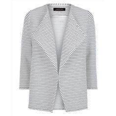 Jaeger Jaeger Jersey Breton Cardigan ($91) ❤ liked on Polyvore featuring tops, cardigans, cardigan top, breton top, striped cardigan, jersey cardigan and summer cardigans