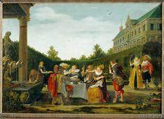 Esaias van de Velde - Banquet in the palace garden