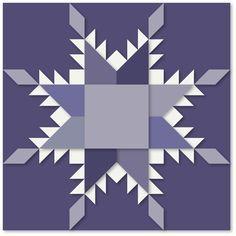 snowflake barn quilt block - Google Search
