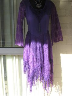 20OFFPRICE.. Vintage Stunning Purple  Lace Crochet by GlamourZoya, $99.00