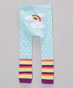 Light Blue Rainbow Leggings - Infant #zulily #zulilyfinds
