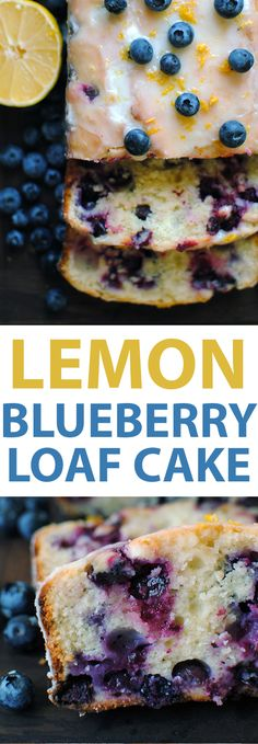 This Lemon Blueberry Loaf Cake is made with lemon juice, lemon zest, fresh juicy blueberries, Greek yogurt, and topped with a sweet lemon glaze.