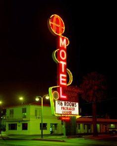 Sixteen bucks for a room, and packaged liquor. It's a cheap date. (Albert Watson, Las Vegas)