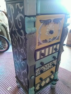 Commissioned hand painted furniture by Lezley Lynch Designs, Edmond, Ok