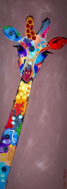 """Giraffe"", Acrylic on Canvas, 60x165cm"