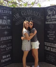 Chalkboard Photo Board | DIY Graduation Party Ideas for High School | DIY College Graduation Decorations Ideas