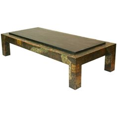 """Paul Evans """"Patchwork"""" and Slate Coffee Table 