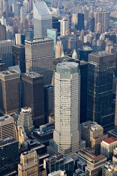 Buildings New York vu helicoptere