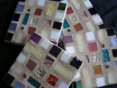 MultiColored Stained Glass Coasters Mosaic by breakitupdesigns, $28.00