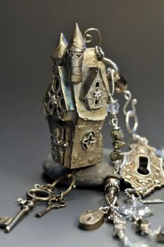 Fairy Queen of Keys Castle - Christi Anderson metal clay