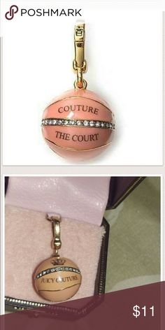 Juicy Basketball Charm Juicy Couture basketball charm comes with original box Juicy Couture Jewelry Bracelets