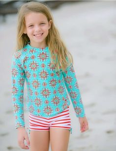 Browse sun protective swimwear for girls, ranging from rashguard and coverup sets, to swimsuits, dresses, and accessories that blocks of harmful UV rays. Spring Summer Fashion, Autumn Winter Fashion, Winter Style, Toddler Girl Fall, Preety Girls, Sun Protective Clothing, Cute Little Girls Outfits, Find Girls, Girls Swimming