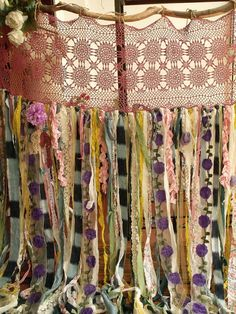 Boho Garland Curtain Gypsy Hippie Glamping by BetterhomeLiving