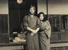 John Lennon  Yoko Ono in Kimono.
