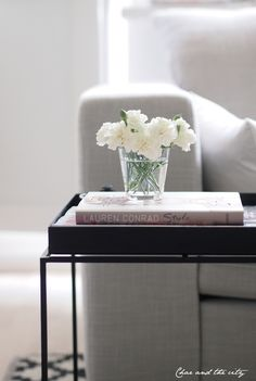Simple Coffee Table Vignette | Char and the City - Indie Days.