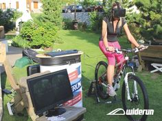 Công nghệ kính thực tế ảo với việc tập xe đạp