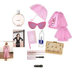 Shower Me In Pink by itsindiaross on Polyvore featuring Gucci, Topshop, STELLA McCARTNEY, Too Faced Cosmetics, Chanel, ban.do and Isotoner