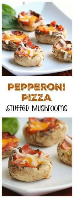 Easy hot appetizer r Easy hot appetizer recipe - Pepperoni Pizza...  Easy hot appetizer r Easy hot appetizer recipe - Pepperoni Pizza Stuffed Mushrooms - requires few ingredients is simple to make and tastes great! Recipe : http://ift.tt/1hGiZgA And @ItsNutella  http://ift.tt/2v8iUYW