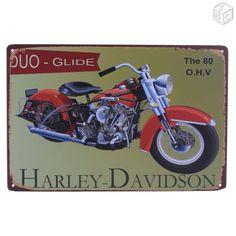 Plaque émaillée Harley Davidson duo glide neuve