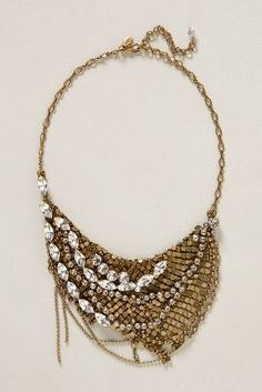 This sparkling chainmail #necklace is GORG! Rock a black outfit with tuxedo pants and this necklace and you're done!!