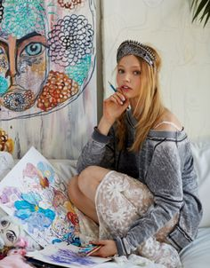 Sasha Pivovarova is so much more than a pretty face, this is a woman with a beautiful artistic vision.