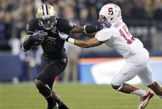 Kasen Williams' 35-yard touchdown catch in the fourth quarter gave the Huskies the lead, and Washington held on for a 17-13 upset victory over the eighth-ranked Stanford Cardinal at CenturyLink Field.