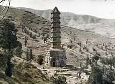 These extraordinary pictures are autochromes, the earliest color photographs invented by the Lumière brothers in Lyon in The same Lumière brothers who. Buddhist Pagoda, Albert Kahn, Chinese Culture, Life Photography, First Photo, Mount Rushmore, Empire, China, Mountains