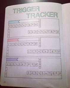 Bullet journal Trigger tracker