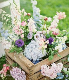 crated flowers
