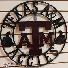 """32"""" Texas Aggies Gig 'em A Metal Art"""