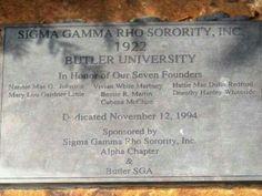 Sigma Gamma Rho Sorority, Inc. #ButlerUniversity #1922