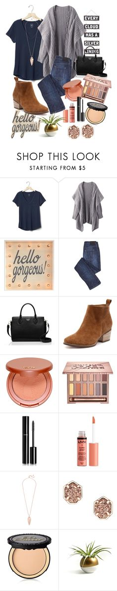 """""""For my mom❤️❤️"""" by averytheleapinglizard ❤ liked on Polyvore featuring Gap, Kate Spade, tarte, Urban Decay, Chanel, NYX, Kendra Scott, Too Faced Cosmetics and Silver Lining"""