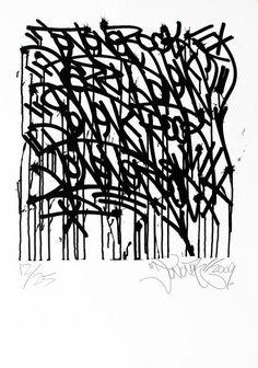 JONONE (né en 1963) Urban Calligraphy  2009 Sérigraphie