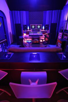 studio blacklit, would be my fave place in the house
