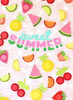DIY Chipboard Letters for Summer DIY chipboard letters for the summer Summer Diy, Summer Fruit, Summer Crafts, Diy And Crafts, Crafts For Kids, Arts And Crafts, Paper Crafts, Paper Medallions, Fruit Crafts