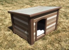 Painted this dog house with five colors of paint samples