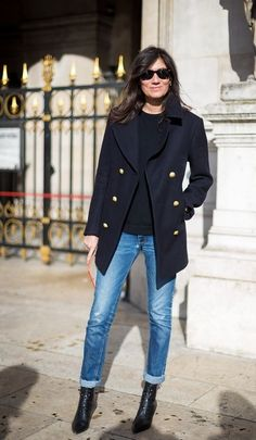 A classic peacoat is a must - french style
