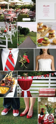 Picnic wedding @Cara Scroggins Johnson - Come on, red is a great color any time! ;)