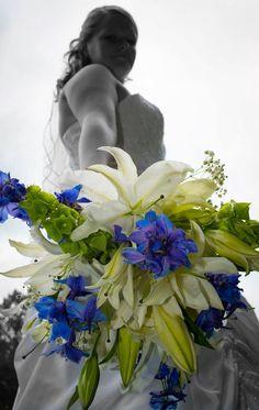 Bridal bouquet unique shot by @Andrea Yeager !
